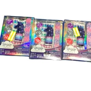 Three Glitter Unicorn Nail Kits